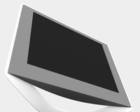 Computer monitor. Closeup of a modern LCD or flat screen computer monitor stock illustration