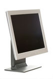 Computer monitor. With black screen on white stock images