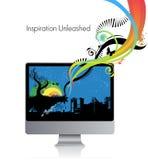 Computer monitor Royalty Free Illustration