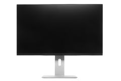 Computer Monitor with black screen Stock Photo