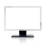 Computer Monitor with blank white screen. Isolated on white background Stock Image