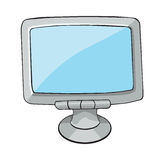 Computer Monitor. cartoon Style. Royalty Free Stock Photography