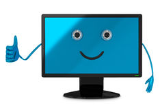 Computer monitor character Stock Photography