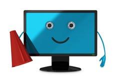 Computer monitor character Stock Image