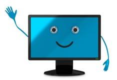 Computer monitor character Royalty Free Stock Photo