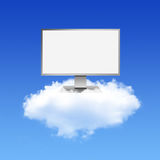 Computer Monitor on Cloud Computing Network Royalty Free Stock Photo