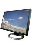 Computer monitor display Royalty Free Stock Photo