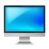 Computer Monitor. Full HD Computer Monitor with Empty Blue Screen Royalty Free Stock Photos