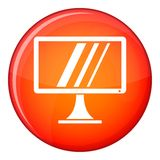 Computer monitor icon, flat style Royalty Free Stock Photography