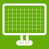 Computer monitor icon green Stock Photos