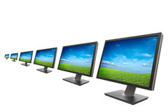 Computer monitor isolated Royalty Free Stock Photography