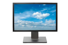 Computer monitor isolated Royalty Free Stock Image