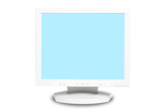 Computer monitor isolated on white background Stock Photography