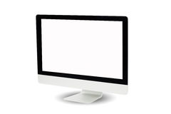 Computer monitor isolated on white background Stock Photo