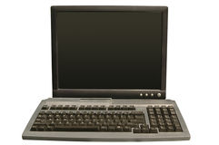 Computer monitor and keyboard. With clipping path on a white background Stock Images