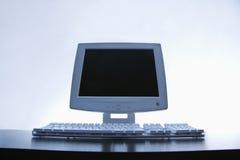 Computer monitor and keyboard. Royalty Free Stock Photo