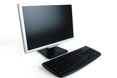 Computer Monitor and Keyboard Royalty Free Stock Image