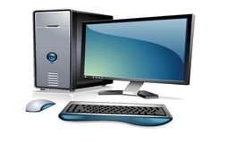 Computer with monitor,keyboard Stock Photography