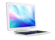 Computer monitor and keyboard Royalty Free Stock Photo