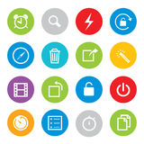 Computer monitor laptop tablet Mobile Phone Electronic gadgets Vector Icon Royalty Free Stock Photo