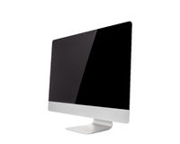 Computer Monitor, like mac with blank screen. Isolated on white background royalty free stock image