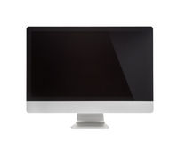 Computer Monitor, like mac with blank screen. Isolated on white background royalty free stock images