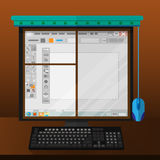 Computer monitor like window Royalty Free Stock Photography