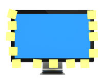 Computer Monitor with post it Royalty Free Stock Photography