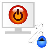 Computer monitor with power Stock Photography