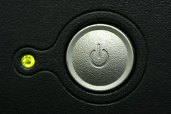 Computer monitor power button macro Royalty Free Stock Image