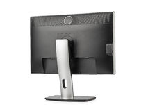 Computer monitor rear view. Isolated on white background Royalty Free Stock Photography