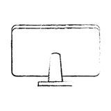 Computer monitor rearview office supplies icon image Royalty Free Stock Photography