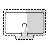 Computer monitor rearview office supplies icon image Stock Photo