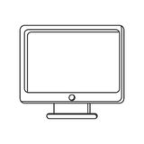 computer monitor screen icon Stock Photo