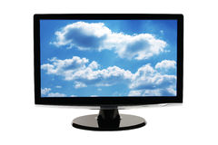 Computer monitor screen isolated royalty free stock image