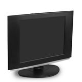 Computer  monitor  screen  isolated on white Stock Photography