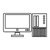 Computer monitor with sd card Royalty Free Stock Images