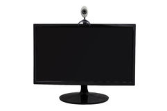 Computer monitor and webcam Royalty Free Stock Photography