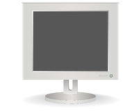 Computer monitor. On a white background Royalty Free Stock Photos
