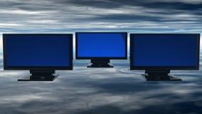 Computer monitors Stock Image