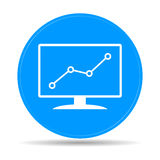Computer monitors with different graphs. Vector eps10 illustration stock illustration