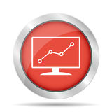 Computer monitors with different graphs. Vector eps10 illustration royalty free illustration