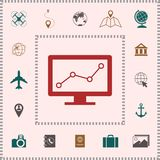 Computer monitors with graph. Element for your design royalty free illustration