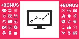 Computer monitors with graph. Element for your design Stock Image