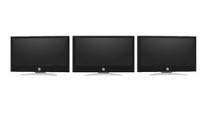 Computer monitors isolated on white background. High-Definition Television Stock Illustration