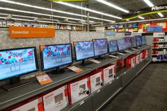 Computer Monitors at a Staples store royalty free stock images