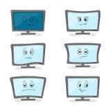 Computer monitors and various mood Royalty Free Stock Image