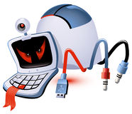 Computer Monster. Monster made up of computer parts vector illustration