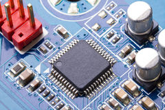 Computer motherboard. With micro chip Stock Images