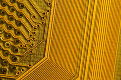 Computer motherboard. Close-up, abstract Stock Images